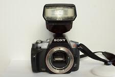 Sony Alpha a330 10.0mp cámara digital-negro carcasa con rayo externo