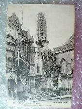 Postcard ARRAS- AFTER the Bombardment in World War 1 Convent of St. Sacremement