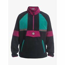 Quiksilver soul power hz fleece hoodie true black 2021 felpa tecnica snowboar...