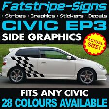 HONDA CIVIC EP3 GRAPHICS DECALS STICKERS STRIPES TYPE R S VTEC 1.6 2.0 SPORT