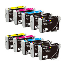 10PK 126 Ink Cartridges For Epson Stylus NX430 Workforce 635 645 840 845