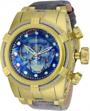 New Men's Invicta 17375 Bolt Zeus Reserve Swiss Distressed Leather Watch