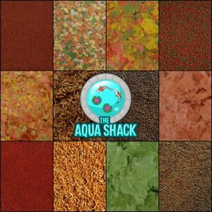 Goldfish & Coldwater Fish Foods - Flakes Pellets Granules Freeze Dried Fancy Koi