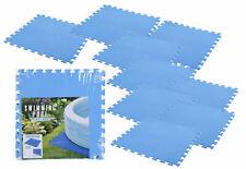 Pool Unterlage 50x50 cm blau - 9 Stück - Bodenschutz Unterleg Matte Stecksystem