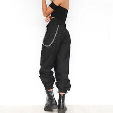 Casual Women Girl Chain Pants High Waist Hip Hop Sports Hippie Long Trousers
