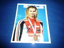 BRITTA STEFFEN  signed Autogramm 20x25 cm In Person  2x OLYMPIA Gold 2008