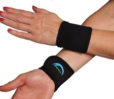 Wrist Support Bands Weights Tennis Golf Sports Cycling Gym Black