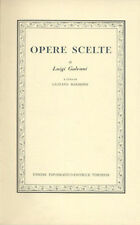 OPERE  SCELTE DI LUIGI GALVANI a cura di Gustavo Barbensi - UTET  1967 - FISICA