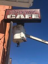 Neon Vintage Cafe Sign Circa 1990 older?All pcs included, neon glass lettering
