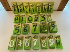 """133 Hy-Ko Products 3"""" & 4 1/2"""" Die Cast Aluminum House Address Numbers & Letters"""