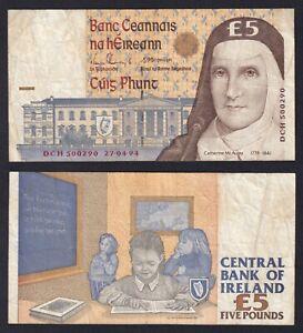 Irlanda 5 pounds 1994 BB/VF  C-08