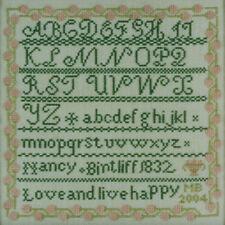 10% Off Moira Blackburn Samplers Cntd X-stitch chart - Nancy Bintliff Sampler
