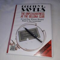 Dorothy L Sayers the unpleasantness at the bellona club x 6 audio cassettes