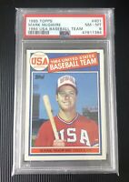 1985 Topps MARK McGWIRE #401 Team USA Rookie PSA 8 NM-MT
