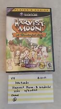 Nintendo GameCube /  Harvest Moon: A Wonderful Life / VG Video Game 81117