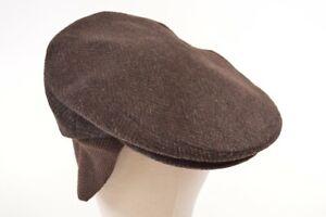 Doria Gruppo Borsalino NWT Wool Blend Newsboy Italy Brown/Black 7 & 3/4, 62, XL