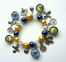 NBA Golden State Warriors charm bracelet with free button