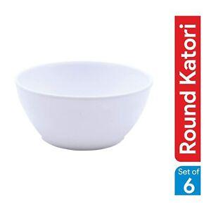 Microwave Safe Unbreakable Plastic Round Katori/Bowl, Set of 6 Pcs FREE SHIPPING