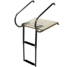 Boat Ladder Telescoping Inboard Fiberglass Swim Platform Ladder 2 Step Well Made