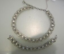 BOGOFF VINTAGE RHINESTONE NECKLACE AND BRACELET SET