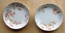 2 Butter Pats T & R Boote CASTELAR Waterloo Potteries Semi Porcelain Antique Pat