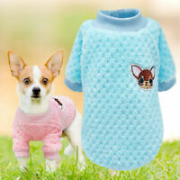 Dog Knitted Jumper Chihuahua Clothes Sweater For Yorkie Small Cats Dog Puppy UK