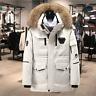 Mens Winter Warm Duck Down Jacket Ski Jacket Snow  Hooded Puffer Coat Parka