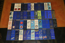 Vintage Lot of 50 WWII U.S. Navy Ship Matchbook Covers U.S.S!