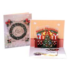 Christmas Tree Pop Up Greeting 3D Card Gift  Merry Christmas  Birthday Wedding
