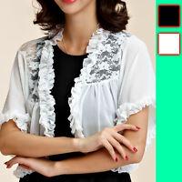Women Ladies Evening Party Top Dress Bolero Shrug AU Size 10 12 14 16 18 #4579