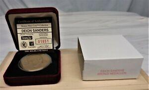DEION SANDERS Highland Mint Collectors Bronze Coin / Medallion Mint / Box w/ COA