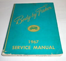 Officina MANUALE SERVICE MANUAL Body Carrozzeria Chevrolet Buick Cadillac... 1967