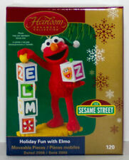 2006 Holiday Fun With Elmo Carlton Cards Sesame Street Ornament Letter Block