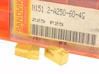 New Surplus 10pcs. Sandvik  N151.2-A250-60-4G  Grade: 225  Carbide Inserts
