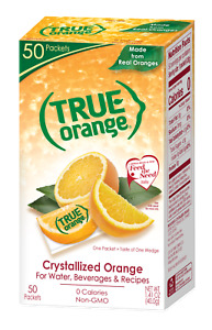 True Lemon Orange Crystallized Real Orange Packets NON-GMO 50-CT SAME-DAY SHIP