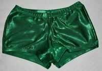 Varsity AS Adult Small Forest Green Foil Shorts Sparkles Gymnastics Dance Cheer