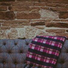 The Weaving Shed UK Wool Blanket Mohair Windowpane Blanket- Charcoal & Fuscia