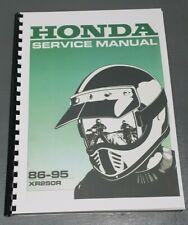 HONDA XR250R SERVICE WORKSHOP MANUAL 1986-1995 REPRINTED COMB BOUND