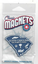 SOUTH CAROLINA  SC  THE PALMETTO   STATE OUTLINE MAP MAGNET in Souvenir Bag, NEW