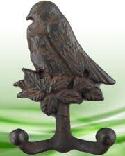 Garderobe 2 x Vögel Wandhaken Gußeisen Rust. braun H.16 cm Vintage Ästhetik