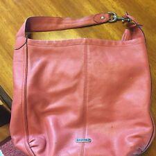 COACH - Peach / Coral Bag  w/ Tassel !!!   (K1380-F23309)  - Used - Good Shape
