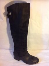 ASH Black Knee High Leather Boots Size 36