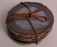 s/4 New Pottery Barn Agate drink coasters