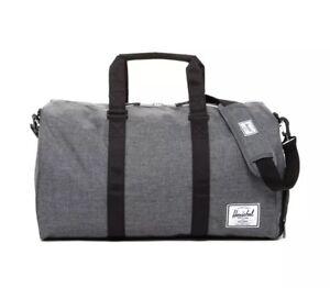 """Herschel Novel Duffle Bag Charcoal Crosshatch  11.5""""(H) x 20.5""""(W) x 11""""(D) New"""