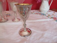 Lovey Vintage silver plated on Brass Goblets  sherry,liquor , Wine HEJL Denmark
