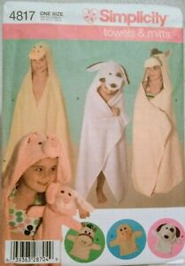 Simplicity 4814 Childs bath towels and Mitts