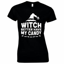 Halloween Costumes Women Scary Horror T-Shirt Witch Candy