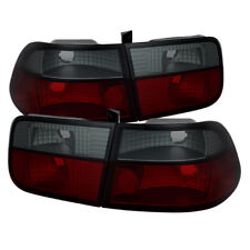 Honda 96-00 Civic 2dr Coupe Red Smoke Rear Tail Lights Brake Lamp EX DX HX SI