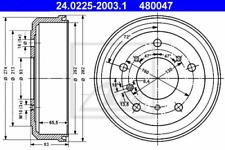 2x Bremstrommel für Bremsanlage Hinterachse ATE 24.0225-2003.1