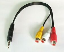 3.5mm Jack Male 4-Pole to 3 RCA Phono Female TV AV Video Adapter Cable AV Lead